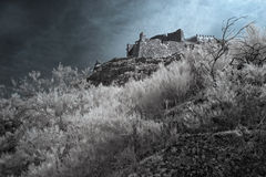 Infrared medieval castle Royalty Free Stock Images