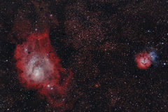 Infrared nebulaes royalty free stock photography