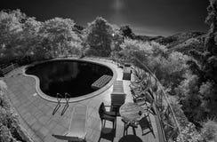 Infrared obrazek Agriturismo w Tuscany Obrazy Stock