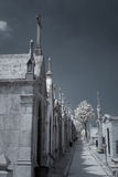 Infrared old european cemetery Royalty Free Stock Photography