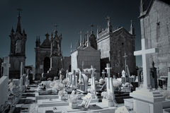 Infrared old european cemetery Royalty Free Stock Images