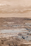 Infrared photo of badlands Stock Photography