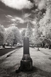 Infrared Photo of a Cemetery Royalty Free Stock Photo