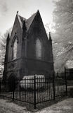 Infrared Photo of a Cemetery and Mausoleum Stock Photography