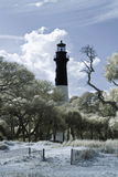 Infrared photo of lighthouse Royalty Free Stock Photos