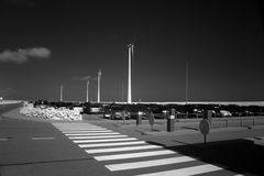 Infrared photo of parking space Stock Photos