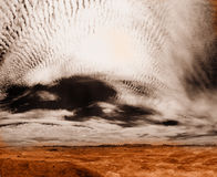 Infrared photo representing martian surface Stock Photo