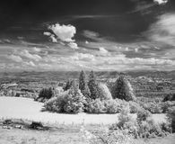 Infrared photography landscape Stock Photo