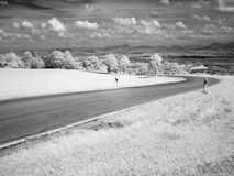 Infrared photography landscape Stock Images