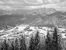Infrared photography Zugspitze Bavaria Germany Stock Image