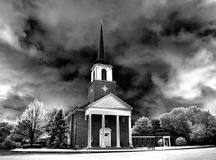 Infrared picture of Catholic Chapel Stock Photo
