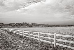 Infrared picture of a winter field outside of Boulder, Colorado stock photos