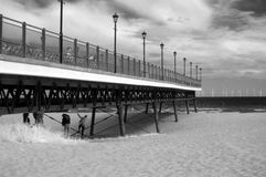 Infrared Pier Royalty Free Stock Photography