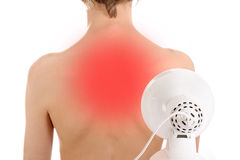 Infrared radiation, therapy stock images