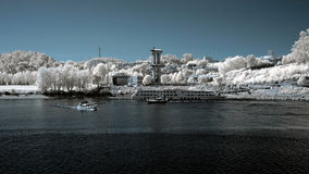 Infrared river Royalty Free Stock Photo