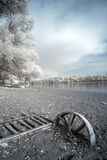 Infrared river shore Stock Image