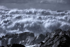 Infrared rough sea Stock Images