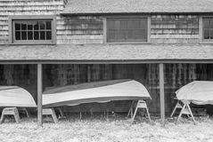 Infrared rowboats. Rowboats shot in infrared Stock Images
