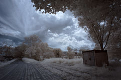 Infrared rustic house Royalty Free Stock Photo