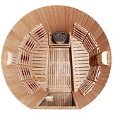 Infrared sauna cabin Stock Images