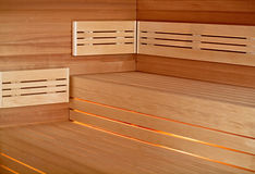 Infrared sauna cabin Royalty Free Stock Image