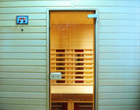 The infrared sauna to health and beauty Royalty Free Stock Image