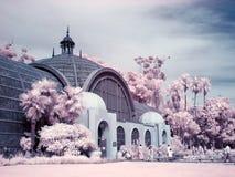 Infrared scene of Balboa Park Botanical Garden stock image