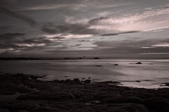 Infrared seascape at dusk Royalty Free Stock Photography