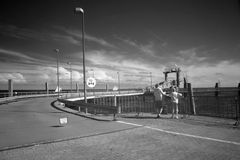 Infrared sensors photo port of Borkum, Germany Stock Photography