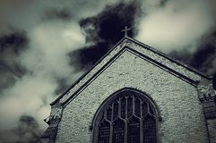 An Infrared Shot Of A Church Stock Images