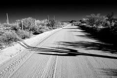 Infrared Sonora Desert Arizona Dirt Road. Dirt Road Sonora desert in Infrared central Arizona USA Royalty Free Stock Images