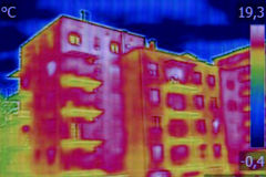 Infrared thermovision image Royalty Free Stock Image