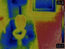 Infrared Toaletowy wizerunek zdjęcia royalty free
