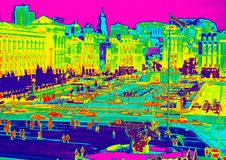 Infrared van Kiev Stock Foto's