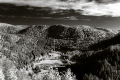 Infrared view of beautiful valley in Vosges mountains Royalty Free Stock Photos