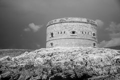 Infrared view of fortress in Kotor Royalty Free Stock Photos