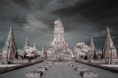 Infrared Wat Chai Wattanaram Royalty Free Stock Images