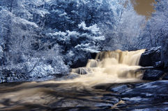 Infrared Waterfall stock photography