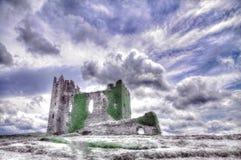 Infrared wizerunek Ballycarbery kasztel, okręg administracyjny Kerry, Irlandia Obraz Royalty Free