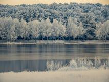 Infraredview στην επιφάνεια λιμνών ` s Στοκ Εικόνα