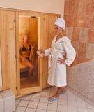 Infrarode sauna royalty-vrije stock foto