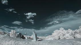 Infrarood landschap met schaduwen Stock Foto