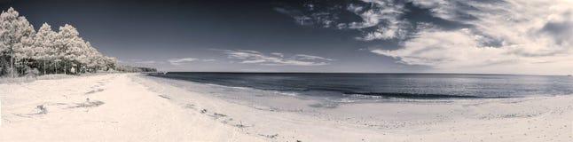 Infrarood strandlandschap Stock Fotografie