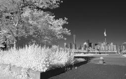 Infrarotbild des Lower Manhattan Stockbilder