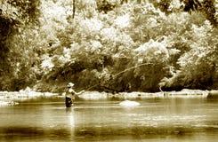 Infrarouge de pêche de mouche Image stock