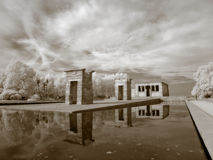 Infrarouge de temple de Debod Photo stock