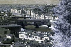 Infrarrojo de Ponte Vecchio Fotos de archivo