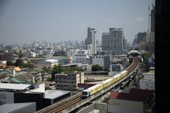 Infrastructure of BTS skytrain in Thailand royalty free stock photos
