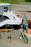 infrastructure de matériel de terrain d'aviation Images libres de droits