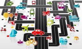 Infrastructure de transport illustration stock
